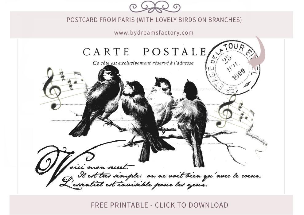 French Typography ♦ Vintage French Ephemera - Free