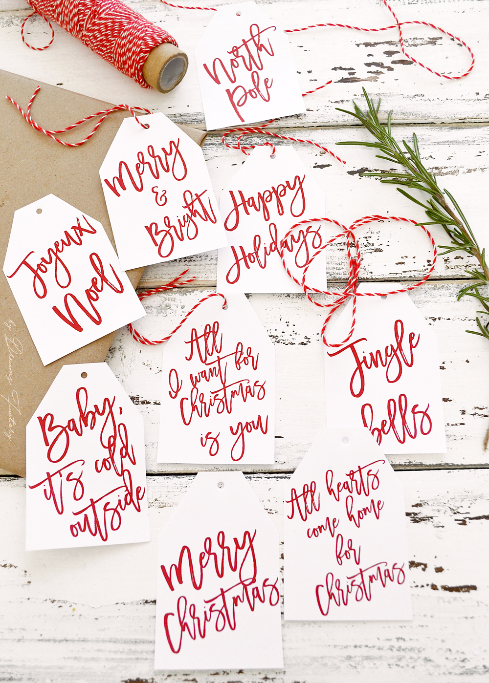 15+ Free Printable Gift Tags - Brooklyn Berry Designs