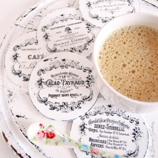 DIY Round French Coasters