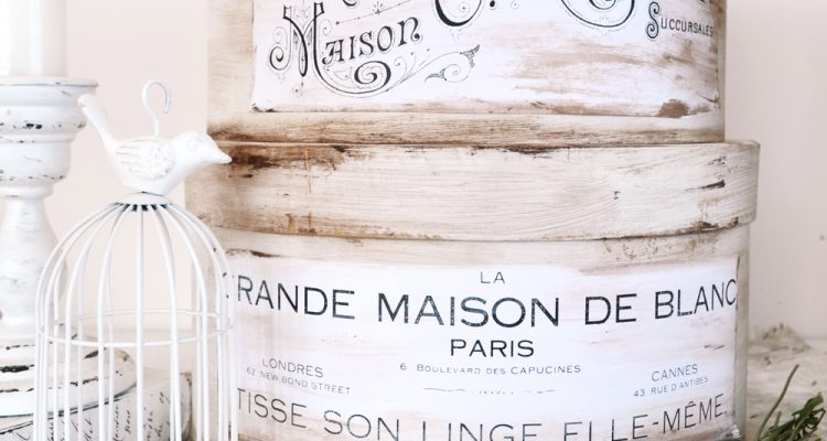 Beautiful DIY Antique French Hat Boxes