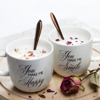 DIY Decal Coffee Cups for Valentine's Day + free printable